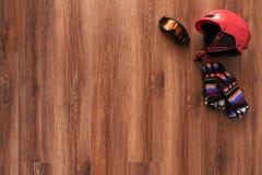 Ensemble de casque, de gants et de masque Photo libre de droits