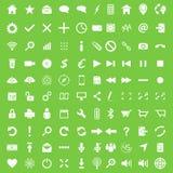 Ensemble de cent icônes plates Photos libres de droits