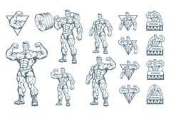 Ensemble de centre de fitness illustration stock