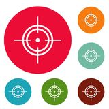 Ensemble de cercle d'icônes de but illustration stock