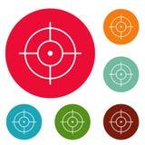 Ensemble de cercle d'icônes de tir illustration de vecteur
