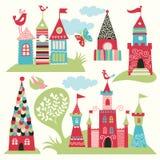 Ensemble de châteaux féeriques illustration stock