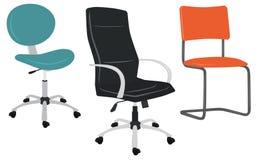 Ensemble de chaises de bureau Photo libre de droits