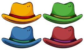 Ensemble de chapeaux Images stock
