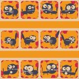 Ensemble de chats drôles Galerie de tir abstraite Vecteur Image libre de droits