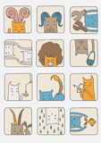 Ensemble de chats - symboles de zodiaque Images stock