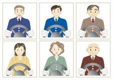Ensemble de chauffeur de taxi illustration de vecteur