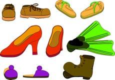 Ensemble de chaussures Photographie stock libre de droits