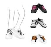 Ensemble de chaussures de gymnastique illustration stock