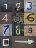 Ensemble de chiffres Photo libre de droits
