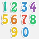 Ensemble de chiffres colorés Photo libre de droits