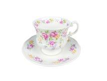 Ensemble de Chinois de tasses de thé sur le fond blanc Photos stock