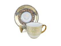 Ensemble de Chinois de tasses de thé sur le fond blanc Image libre de droits