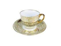 Ensemble de Chinois de tasses de thé sur le fond blanc Photos libres de droits