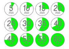 Ensemble de chronomètre d'icônes Photo libre de droits