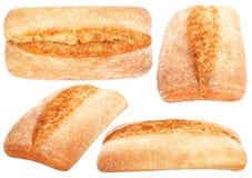 Ensemble de ciabatta de pain italien Photo stock