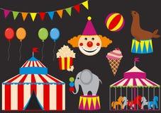 Ensemble de cirque Photo libre de droits