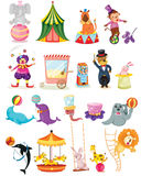 Ensemble de cirque illustration libre de droits
