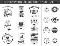 Ensemble de citations et de labels typographiques illustration stock