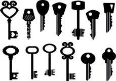 Ensemble de clés Image stock