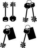 Ensemble de clés. pochoir Image stock
