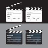 Ensemble de claquette de film claquette vide de film Illustration de vecteur illustration stock