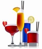 Ensemble de cocktail d'alcool Images stock