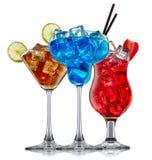 Ensemble de cocktail d'alcool Image libre de droits