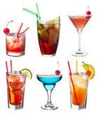Ensemble de cocktails Images libres de droits