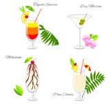 Ensemble de cocktails de partie de plage illustration de vecteur