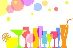 Ensemble de cocktails et de boissons Photos stock