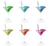 Ensemble de cocktails lumineux d'été Images stock