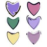 Ensemble de coeur de Valentine, symbole d'amour illustration de vecteur