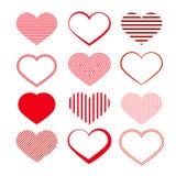 Ensemble de coeur. Valentine Symbols rouge. Photographie stock
