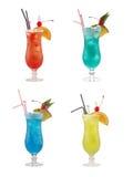 Ensemble de coktails alcooliques image libre de droits