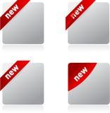 Ensemble de collants blanc et réalistes de vecteur Image stock