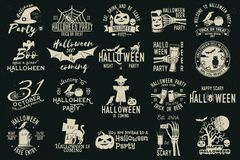 Ensemble de collection de célébration de Halloween illustration stock