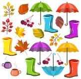 Ensemble de collection de chute d'automne de vecteur Autumn Colors Grande collection pour votre conception illustration de vecteur