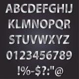 Ensemble de collection d'alphabet de style de lettres en métal Image libre de droits
