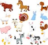 Ensemble de collection d'animal de ferme Image libre de droits