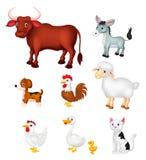 Ensemble de collection d'animal de ferme Images libres de droits