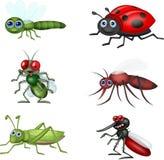 Ensemble de collection d'insecte de bande dessinée illustration de vecteur