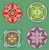 Ensemble de collection de mandala Photo stock
