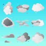 Ensemble de collection de nuages Images stock