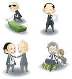 Ensemble de collection de patron de Mafia d'écart-type (ou Président) Photographie stock