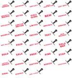 Ensemble de collection de tampon en caoutchouc pour des affaires Photo stock