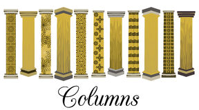 Ensemble de colonne Style dorique et romain Illustration de vecteur illustration libre de droits