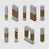 Ensemble de colonnes et de piliers concrets, illustration de vecteur illustration libre de droits
