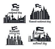Ensemble de concept de bannière d'horizon du Kowéit, style simple illustration de vecteur
