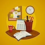 Ensemble de concept de conception des lieux de travail Image stock